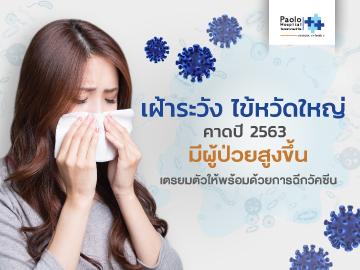 เฝ้าระวัง ไข้หวัดใหญ่ คาดปี 2563 มีผู้ป่วยสูงขึ้น