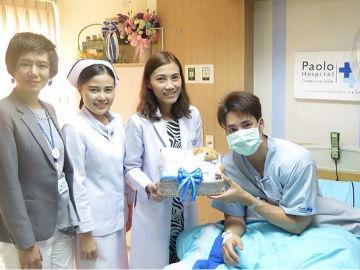 แพทย์เจ้าของไข้เข้าเยี่ยมคุณเด่นคุณ งามเนตร นักแสดงช่อง 3