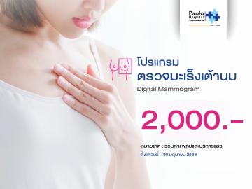 โปรแกรมตรวจมะเร็งเต้านม Digital Mammogram & Ultrasound