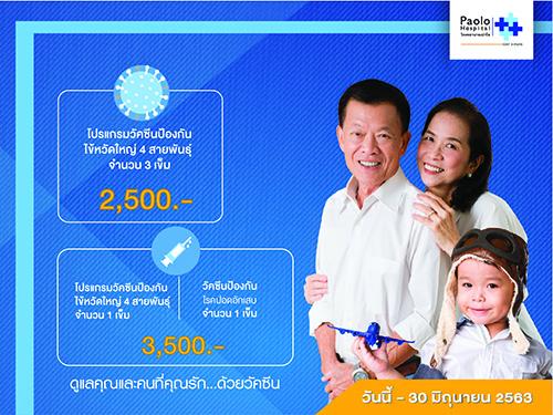 โปรแกรมฉีดวัคซีนป้องกันไข้หวัดใหญ่และปอดอักเสบ Smart & Fit